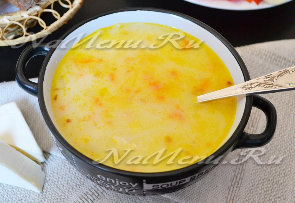 сливочный суп с курицей рецепт и плавленным