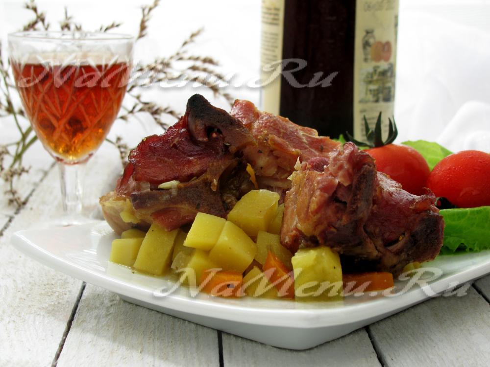 свиные ребрышки рецепт с грибами
