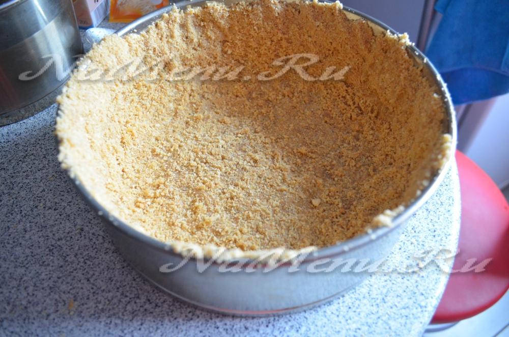 чизкейк творожный рецепт с печеньем в домашних условиях