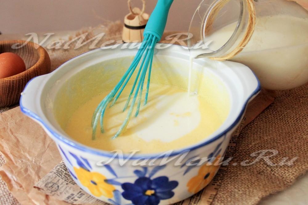 Заварной крем на молоке рецепт с фото