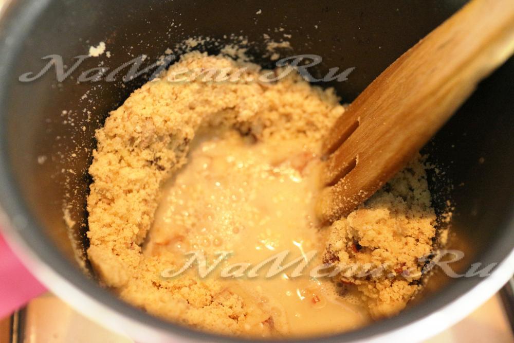 Пудинг из манки рецепт с фото