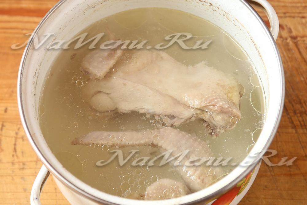 Сварить суп из окорочка рецепт