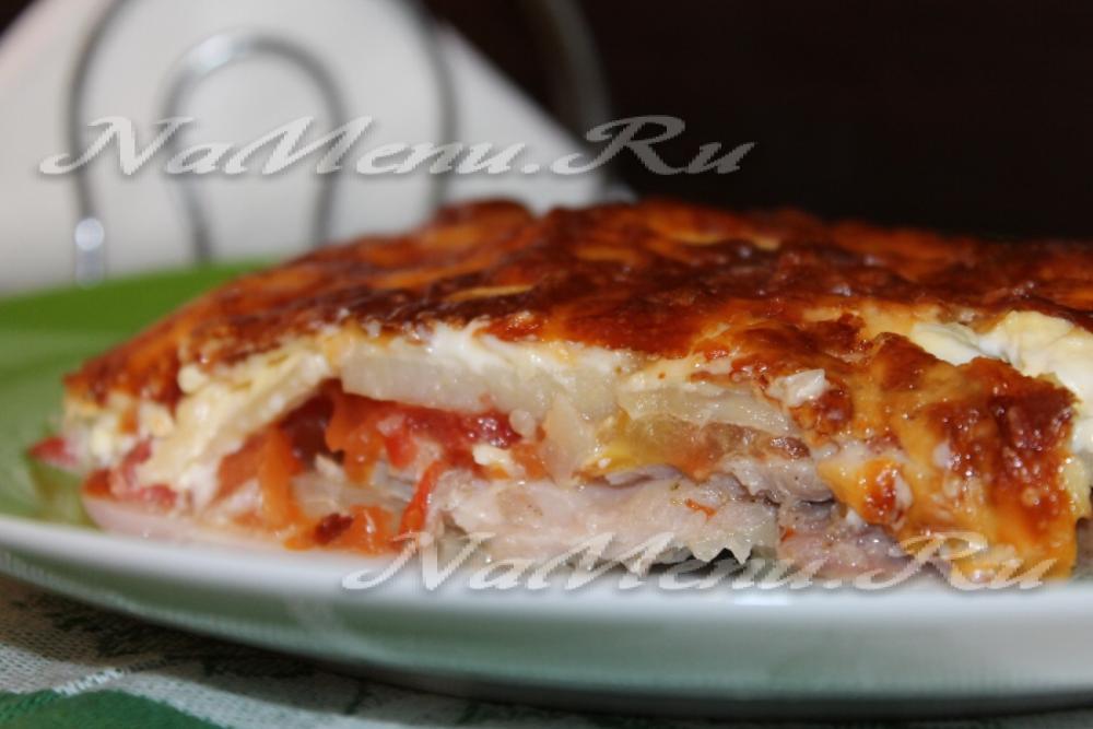 картофель в духовке с помидорами рецепт с фото