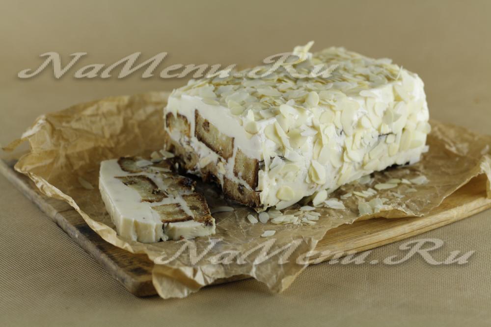 торт со сметаной и желатином без выпечки рецепт с фото