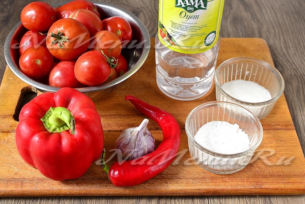 Аджика помидоры перец чеснок на зиму в домашних условиях 750