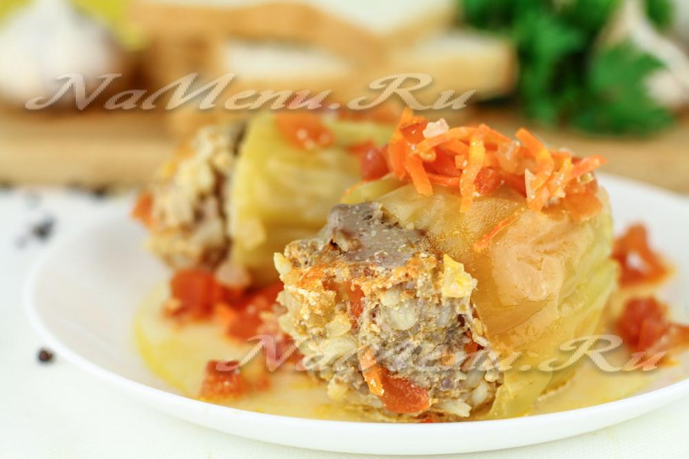 перец фаршированный мясом и рисом рецепт с фото с соусом