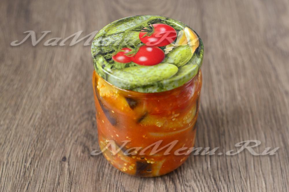 Салат десятка - приготовление из баклажан на зиму пошагово с