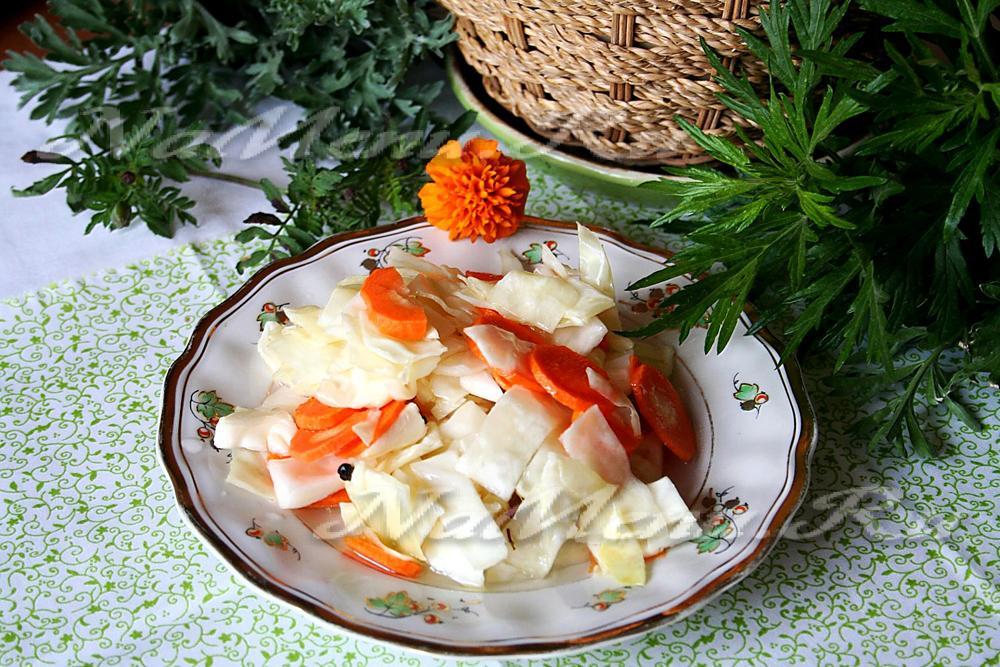 капуста маринованная быстрого приготовления рецепт с лимонной кислотой