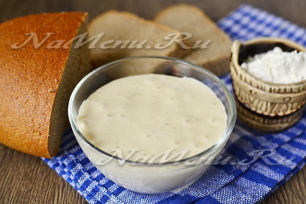 Как сделать закваску для хлеба на хмелю в домашних условиях без дрожжей