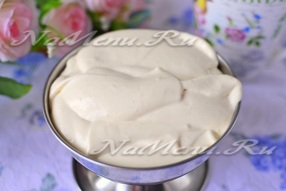 Крем из сметаны для торта как его сделать 448