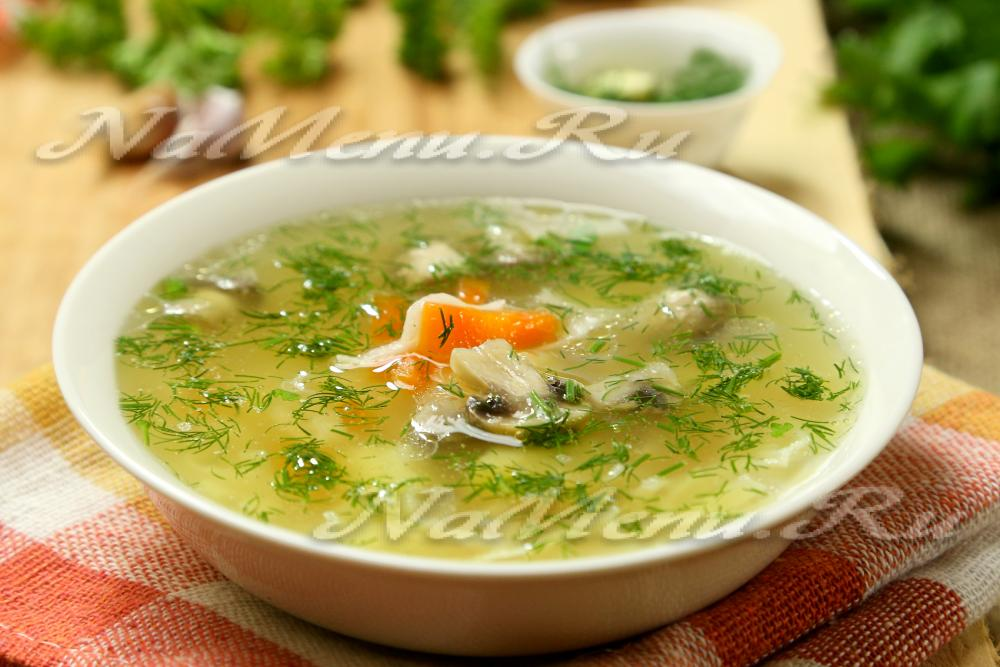рецепт супа из сушеных грибов с плавленным сыром рецепт