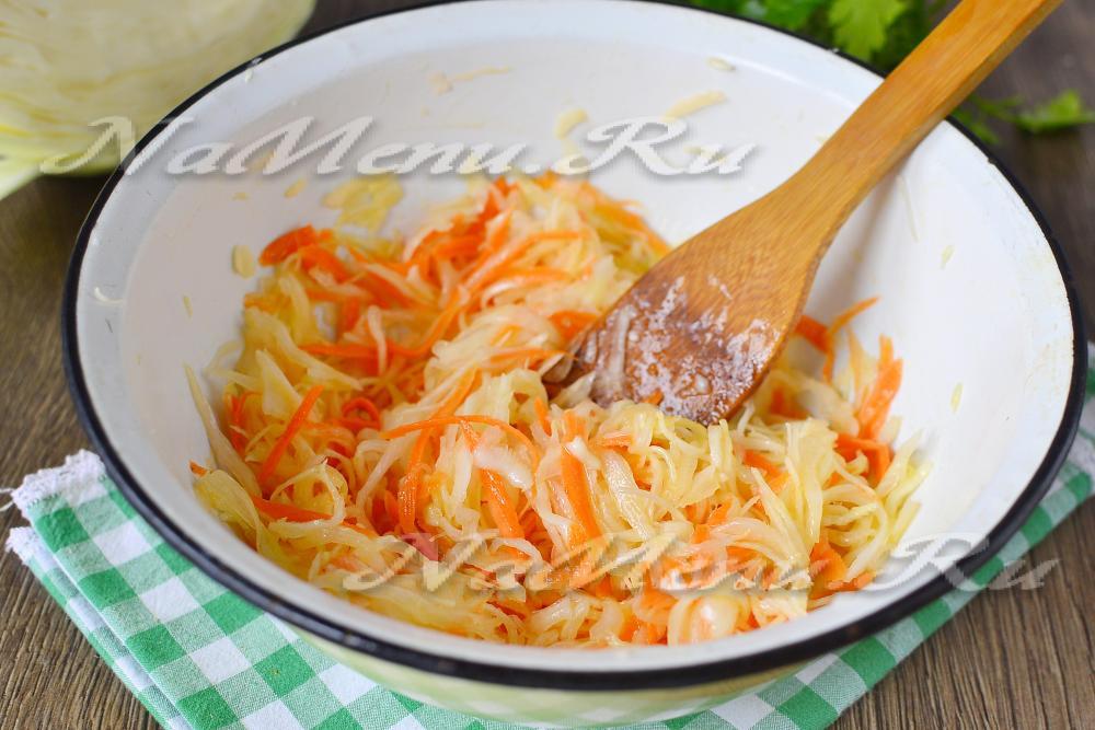 Салат из капусты с морковью как в столовой с фотоы