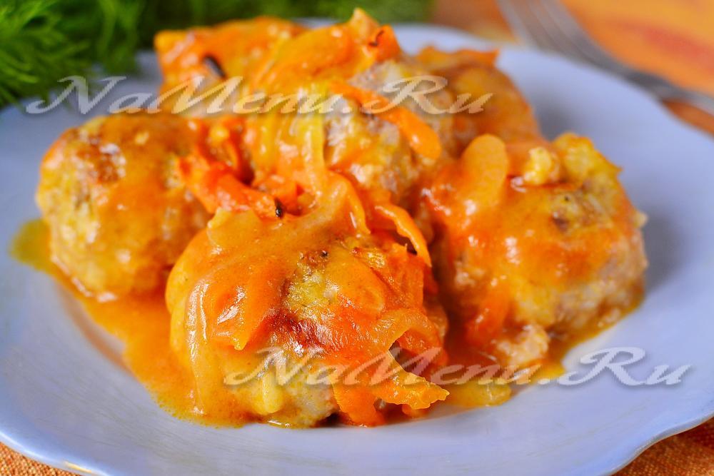 Тефтели в духовке с овощами пошаговый рецепт с