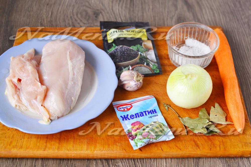 Холодец из курицы рецепт с желатином