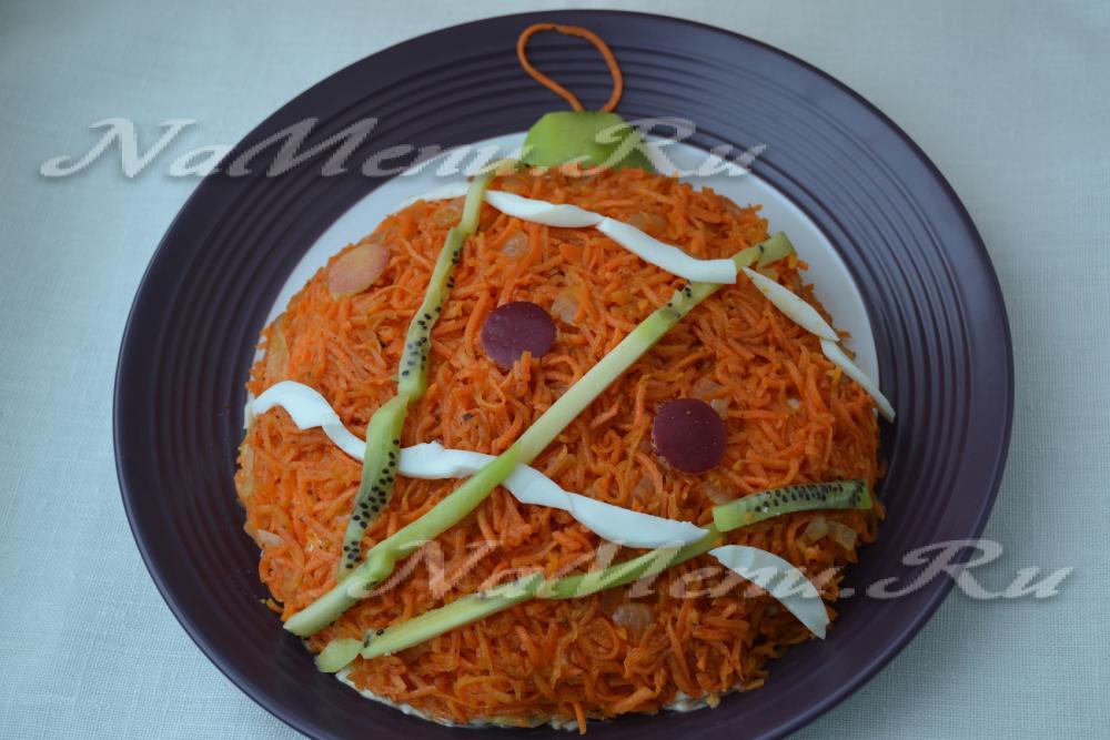 рецепт салата с морковкой по корейски и омлетом