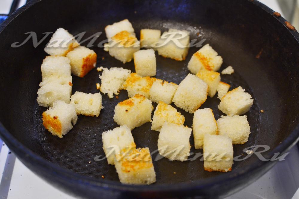 салат цезарь с курицей в домашних условиях с майонезом и чесноком рецепт