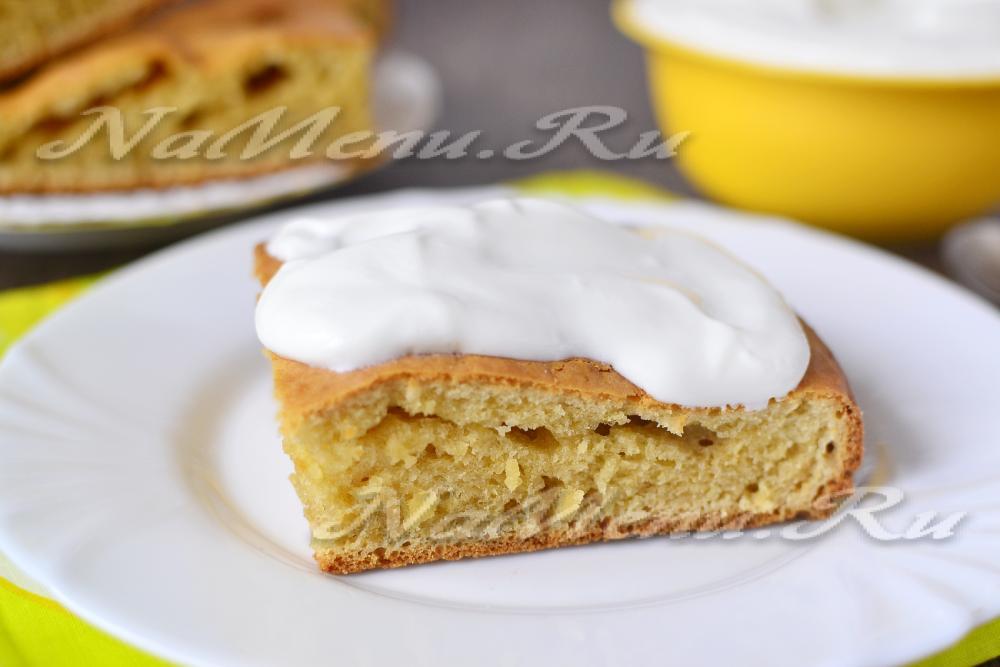 Сметанный пирог простой рецепт с фото