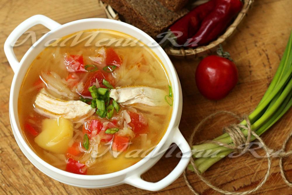 щи с свежей капусты с курицей пошаговый рецепт с фото