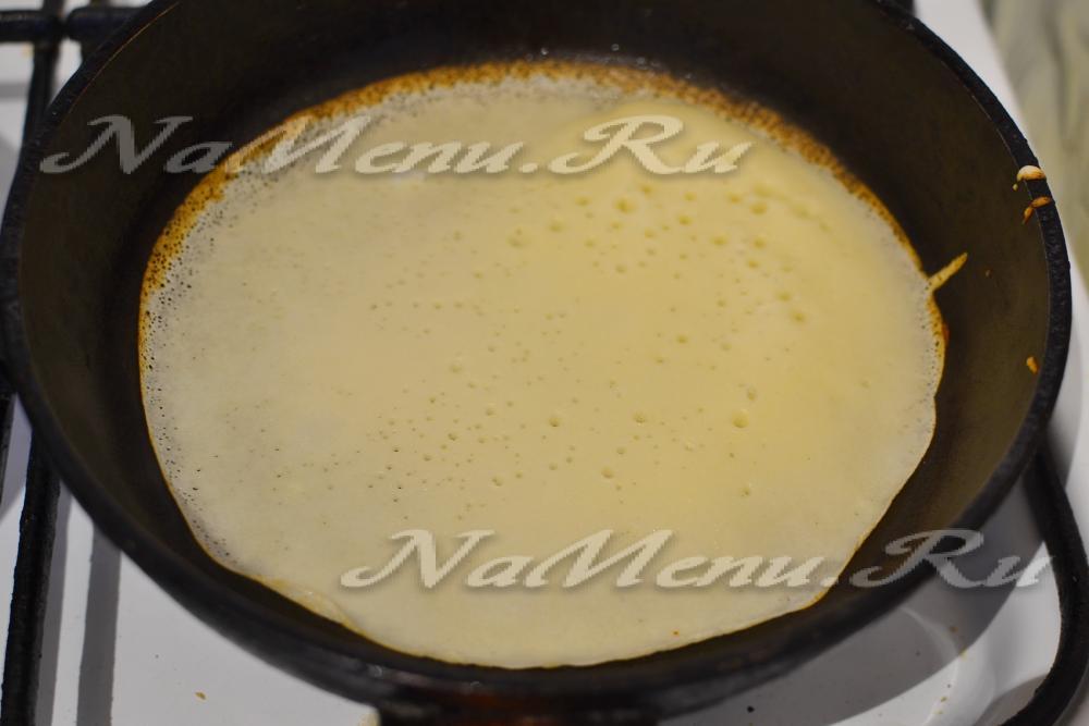 Блины заварные на молоке тонкие с дырочками рецепт