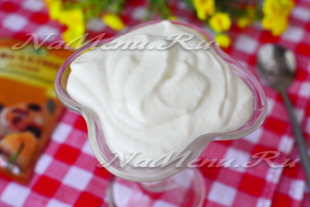 Крем из сметаны для торта как его сделать 460