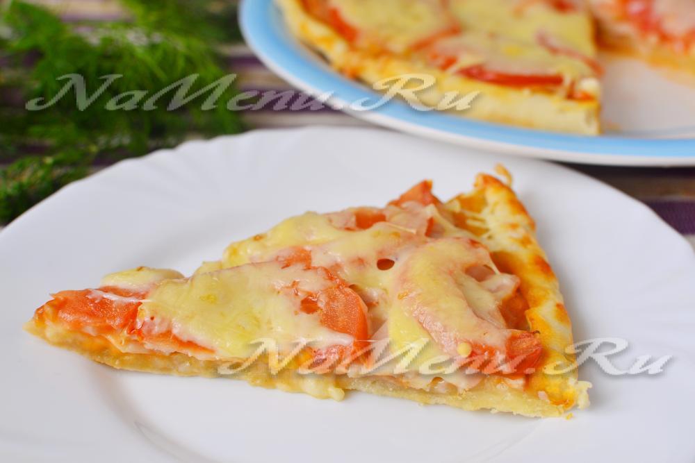 рецепты пиццы с колбасой в духовке в домашних