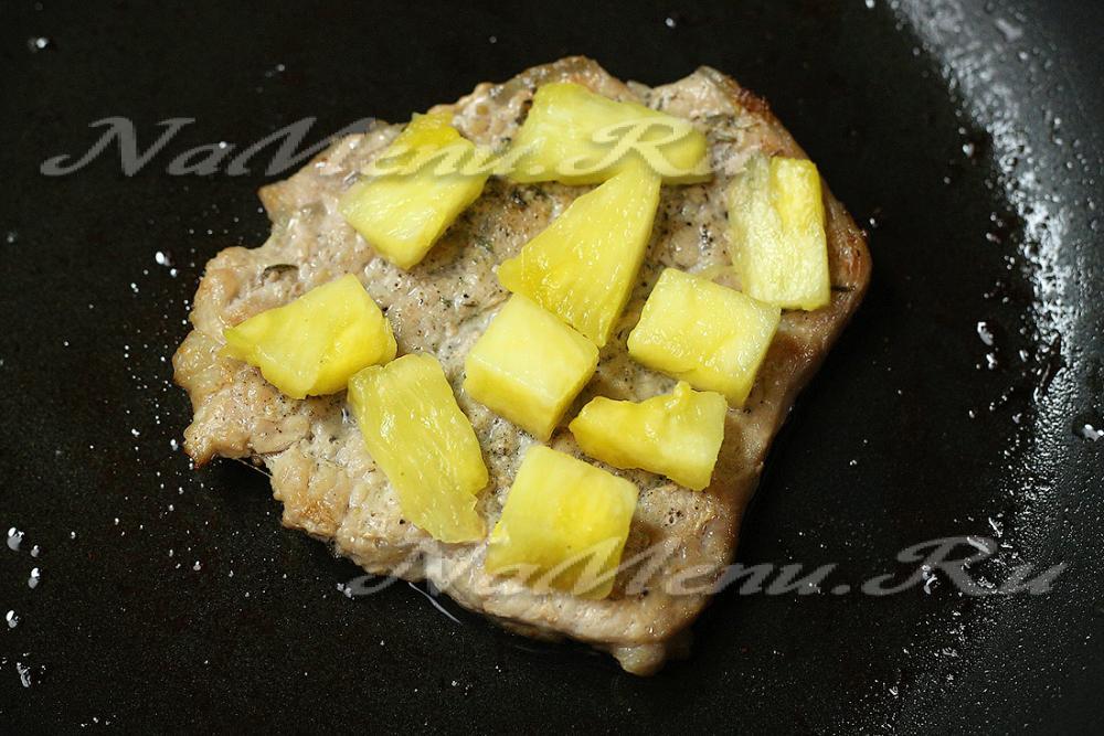 отбивные из свинины в духовке рецепт с фото с ананасом