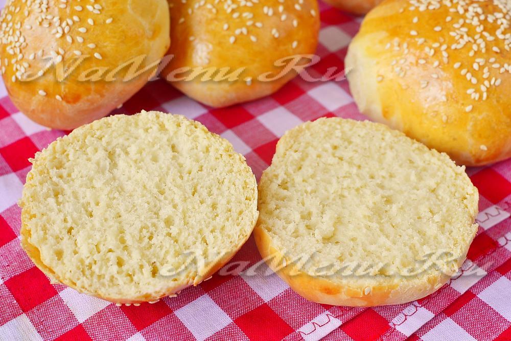 булочки для гамбургеров как в макдональдсе рецепт с фото