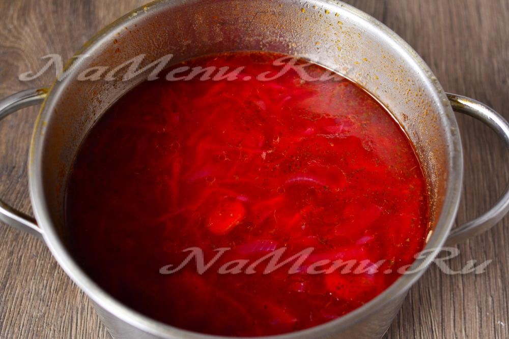 как приготовить борщ со свеклой чтобы он был красный рецепт