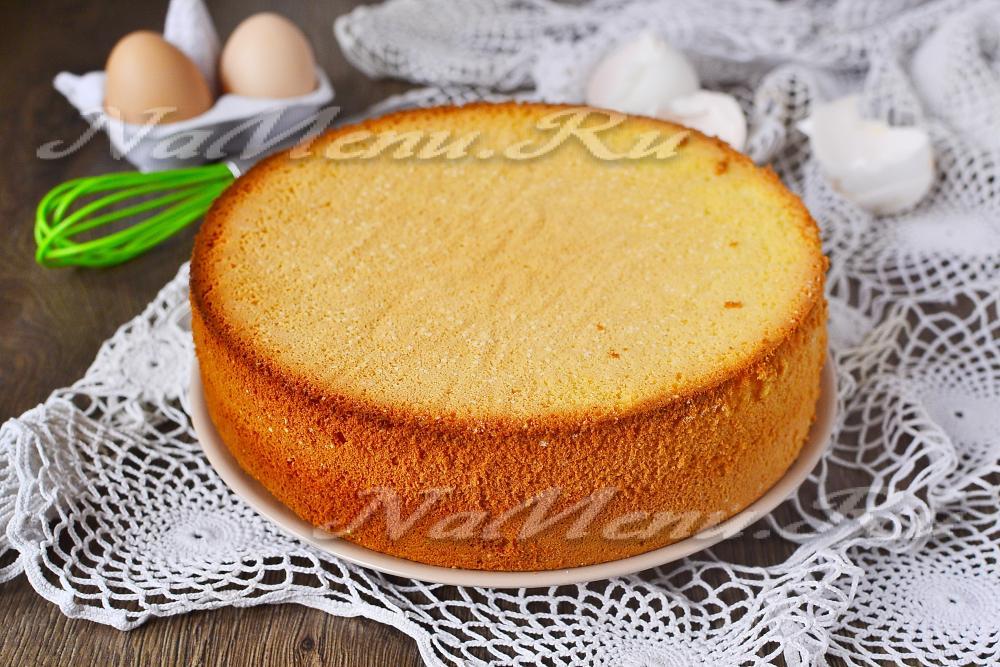 Бисквит на 5 яиц классический рецепт