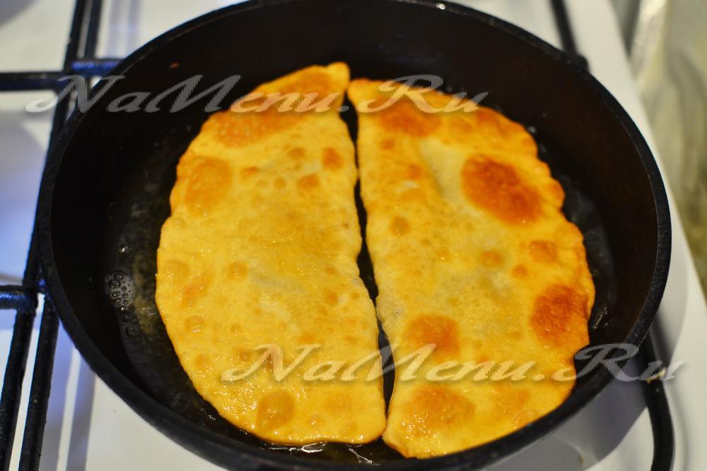 Рецепт чебуреков на кефире пошагово с фото