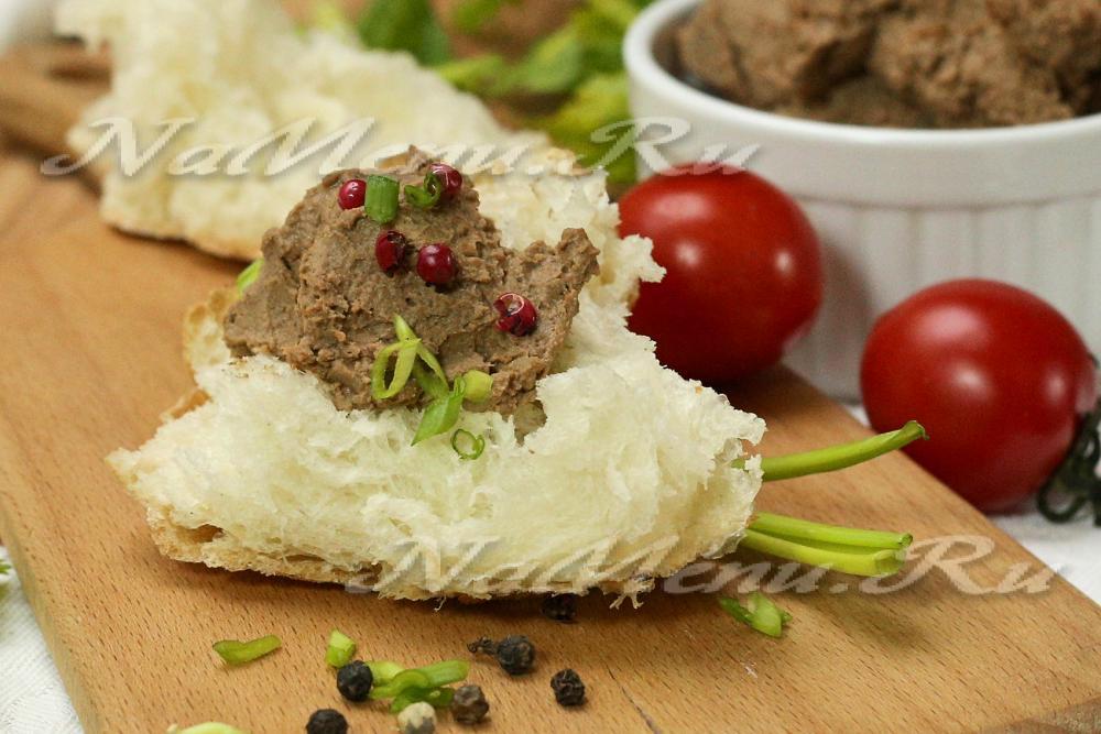паштет из говяжьей печени рецепт с фото