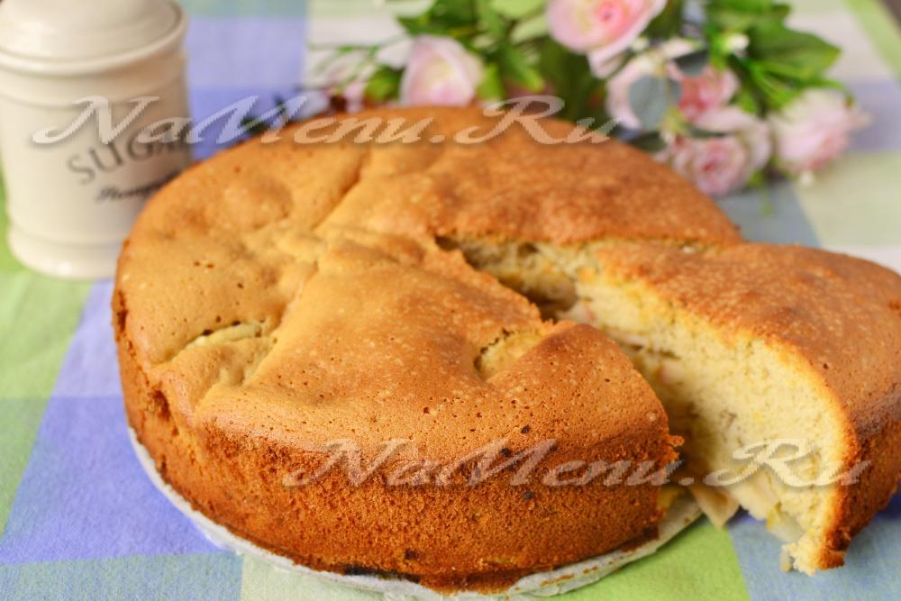 как приготовить пирог из яблок в духовке