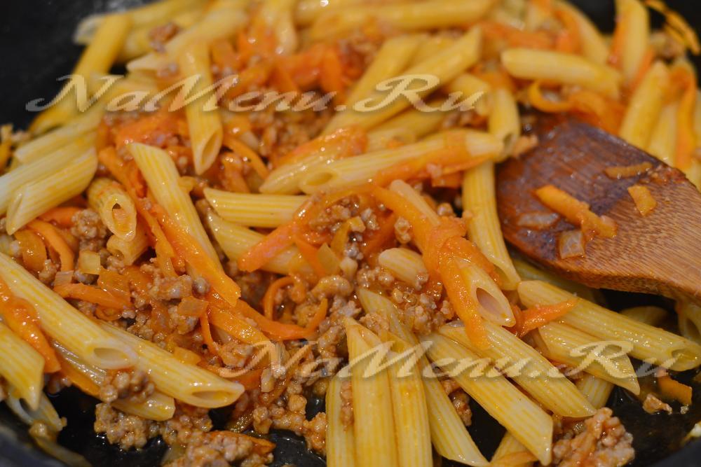 Паста по флотски рецепт с фаршем пошаговый рецепт с фото
