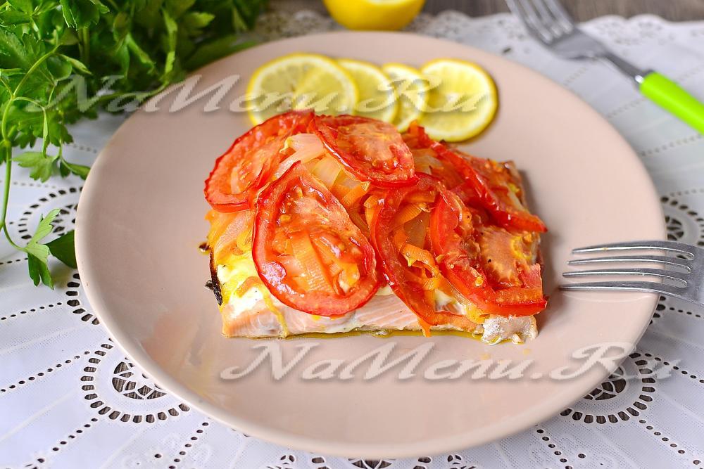 рецепт горбуша запеченная с лимоном в духовке рецепт
