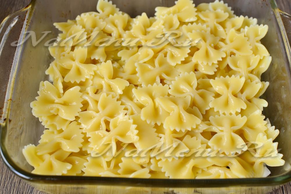 Макаронная запеканка с ветчиной и сыром в духовке