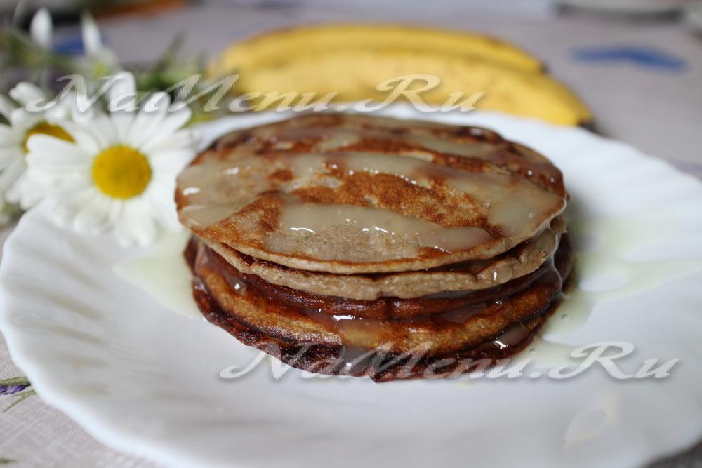 Рецепт банановых панкейков с пошагово