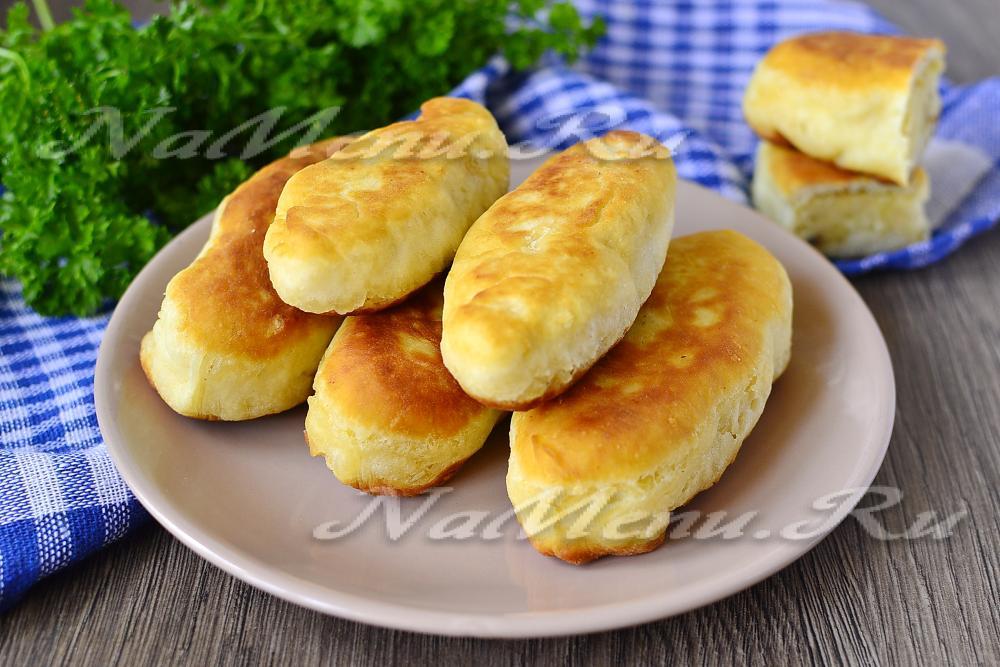 Тесто для пирожков без дрожжей на сковороде рецепт