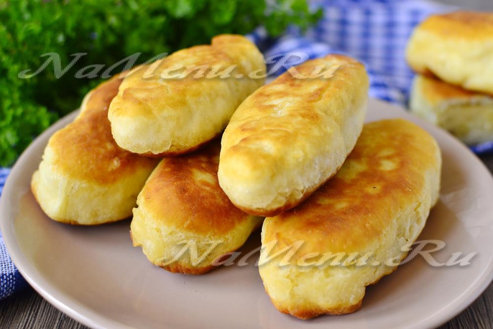 жареные пирожки на кефире без дрожжей рецепт с фото