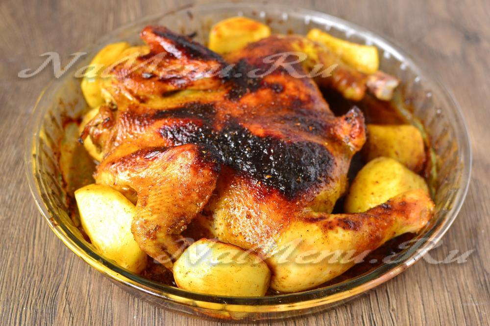 Как приготовить курицу в духовке по необычному