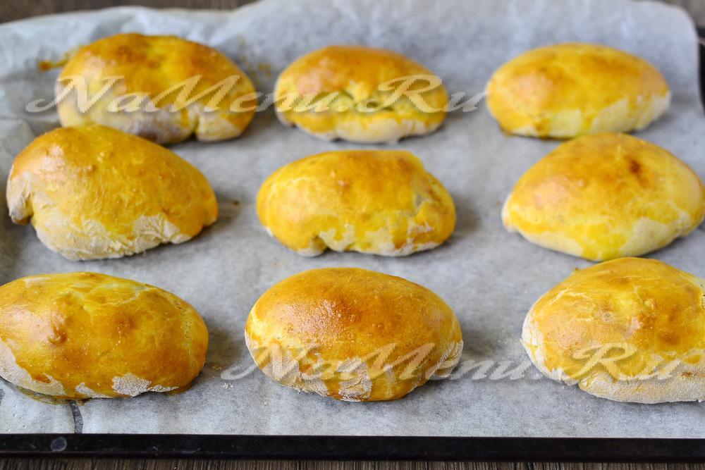 рецепт теста на пирожки в духовке без яиц
