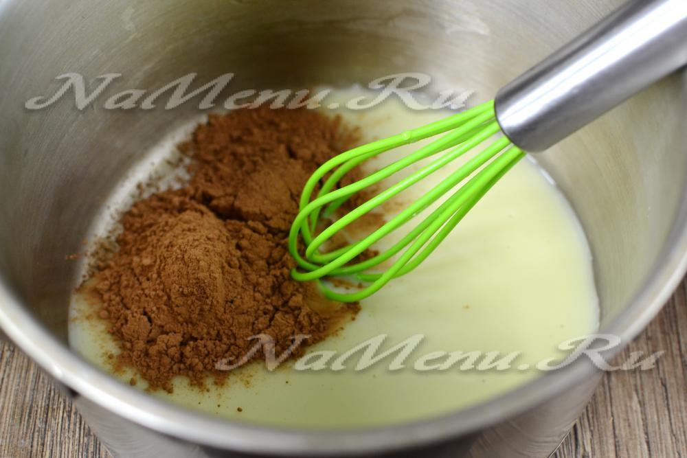 Пропитка для торта с какао