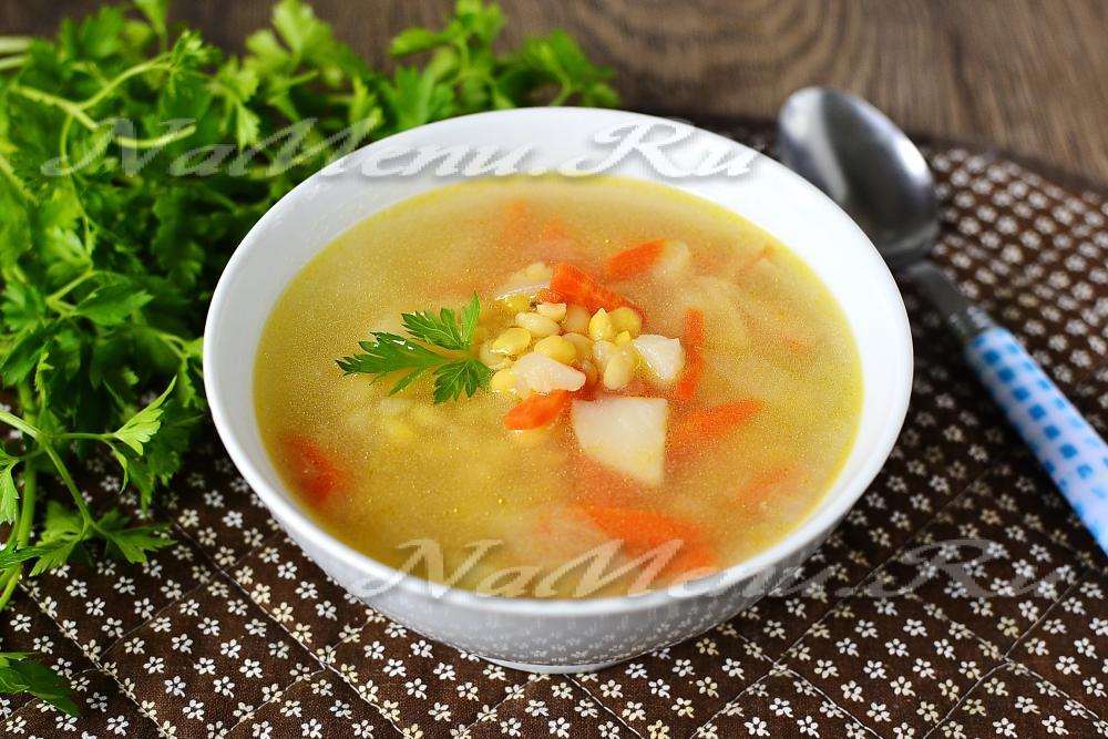 гороховый суп с копчеными ребрышками в мультиварке пошаговый рецепт с фото