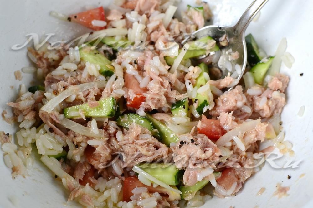 салат из тунца классический рецепт с рисом