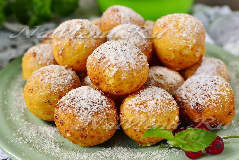 Творожные шарики пошаговый рецепт с фото