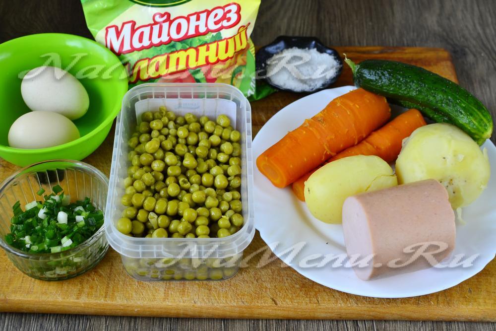 рецепт приготовления салатов со свежими огурцами