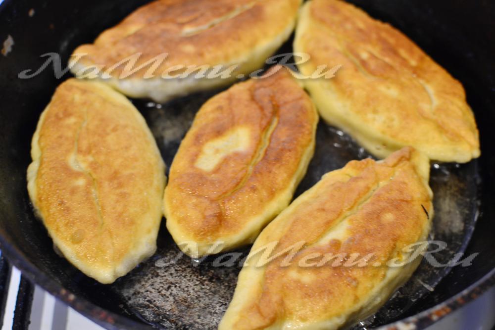 пирожки с капустой без дрожжей на сковороде рецепт