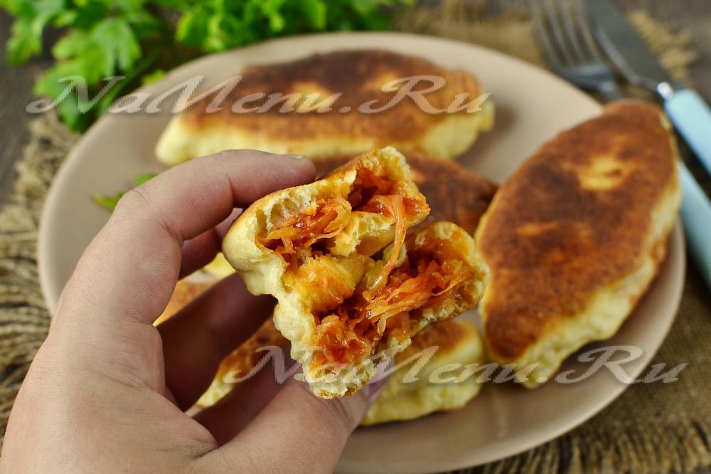 Пирожки на сухой сковороде рецепт с фото