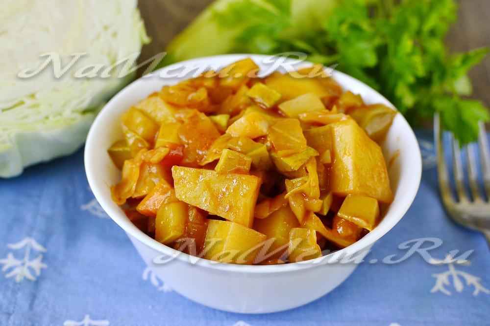 рагу овощное картофель кабачок капуста