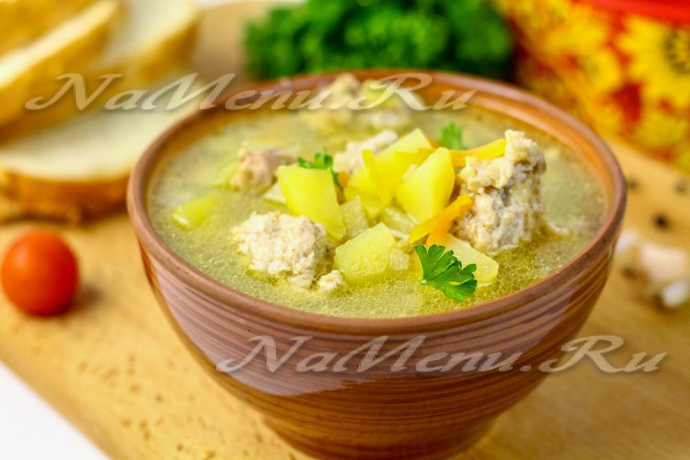 Фото рецепт супа фрикадельками мультиварке