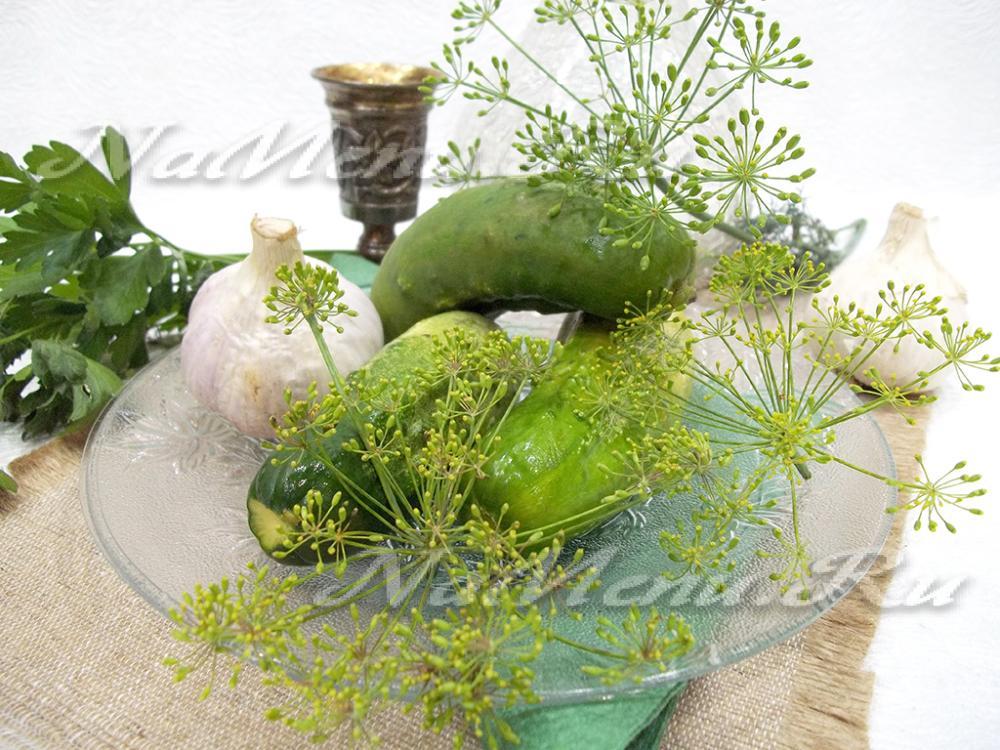 Рецепт малосольных огурцов холодным способом в кастрюле